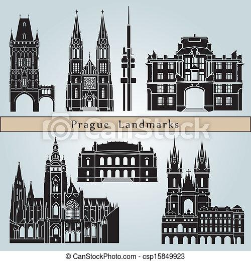 Prague landmarks and monuments - csp15849923