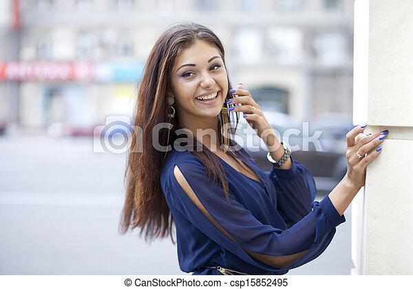 Beautiful young woman  - csp15852495