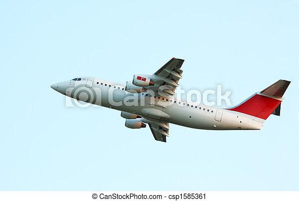 aircraft on takeoff - csp1585361