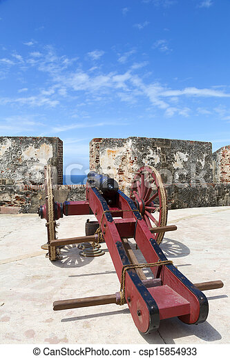 historic cannon - csp15854933