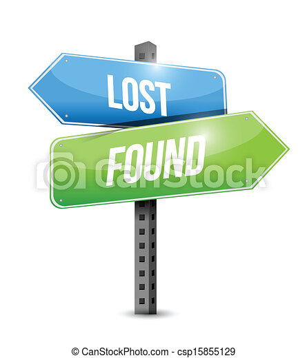 Vector Illustration of lost and found road sign illustration design ...