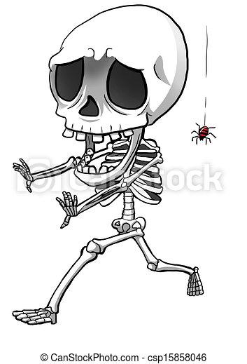 Dessin de squelette dessin anim illustration de a - Dessin de squelette ...