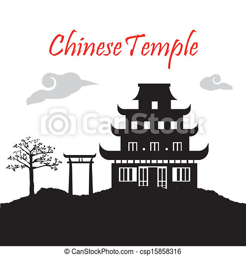 chinese temple vector ...