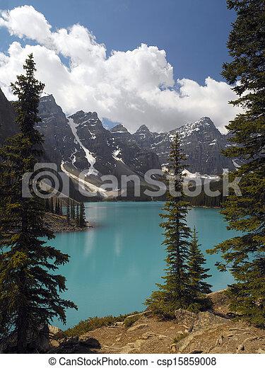 Moraine Lake - Banff National Park - Canada - csp15859008