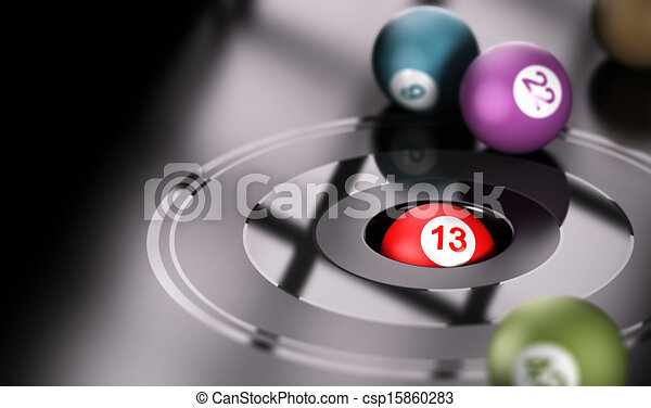 Gambling, Chance and Number 13 - csp15860283