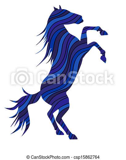 Clip art vecteur de 2014 cheval symbole bright couleur silhouette de csp15862764 - Clipart cheval ...