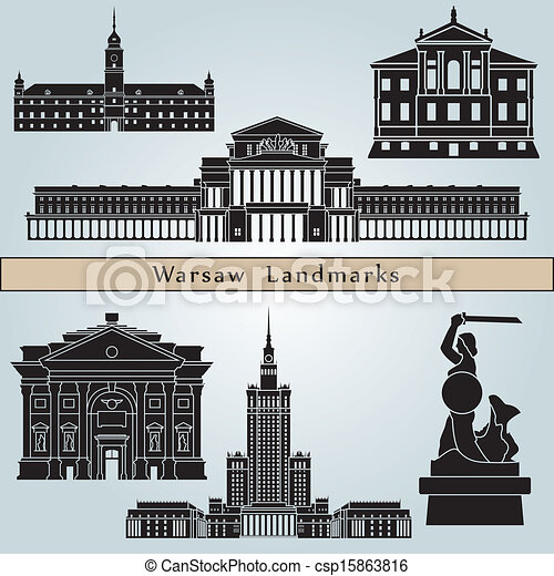 Warsaw landmarks and monuments - csp15863816