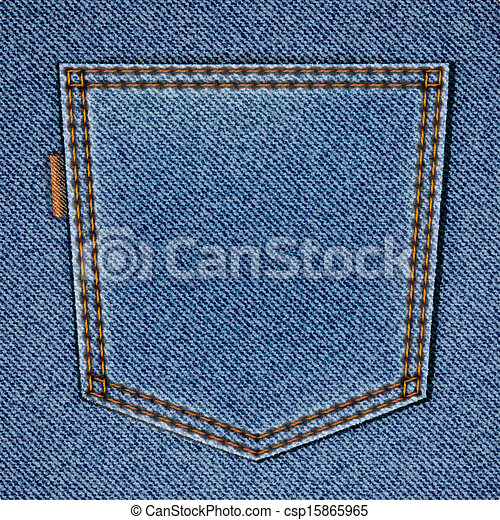 Jeans Back Pocket Texture Clip Art Vector of Bac...