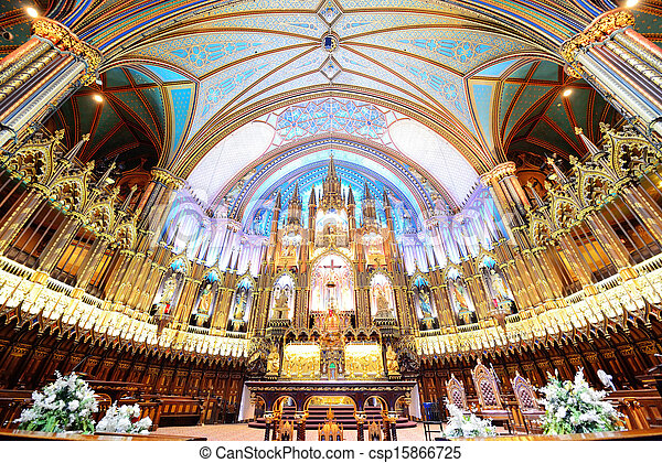 Stock photo of montreal notre dame basilica interior with for International decor lebanon