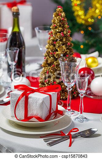 Preparations for Christmas dinner