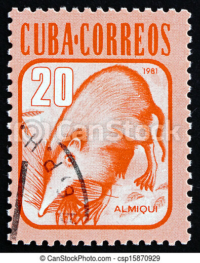 Postage stamp Cuba 1981 Almiqui, Cuban Solenodon, Mammal - csp15870929