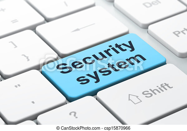 Stock Illustration of Security concept: computer keyboard with ...