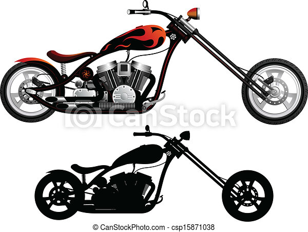 Chopper Motorbike Drawing Motorcycle Csp15871038
