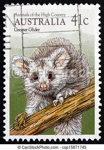 Postage stamp Australia 1990 Greater Glider, Marsupial Mammal - csp15871745
