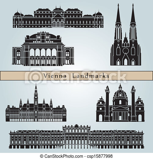Vienna landmarks and monuments - csp15877998