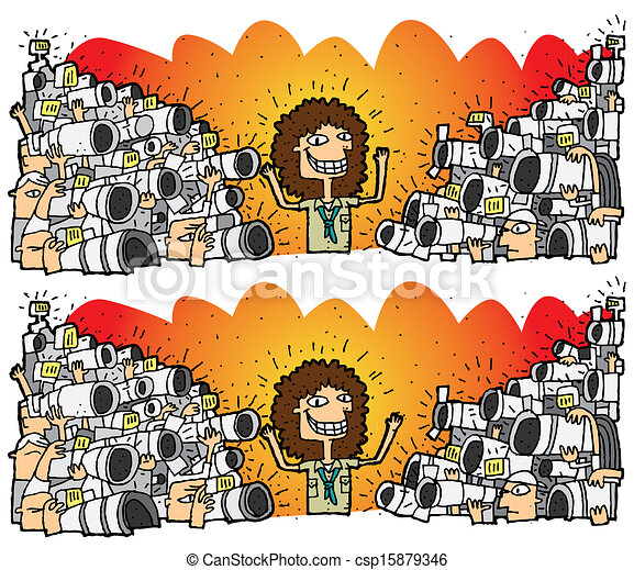 Eps vector of paparazzi differences visual game task for Paparazzi clipart