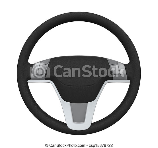 Clip Art of Steering Wheel Isolated - Steering Wheel ...