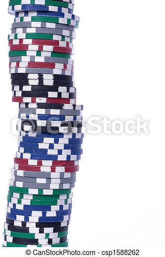 Casino gambling chips - csp1588262