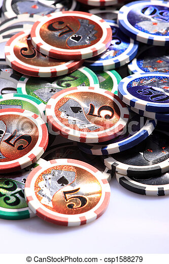 Casino gambling chips - csp1588279