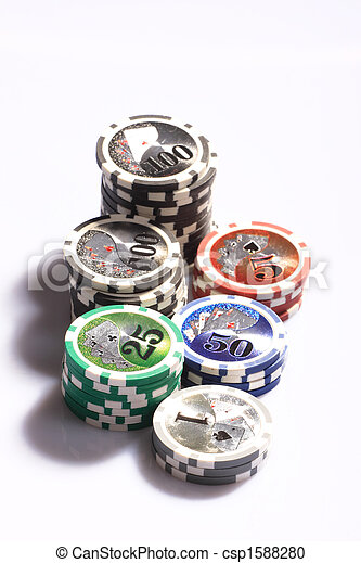 Casino gambling chips - csp1588280