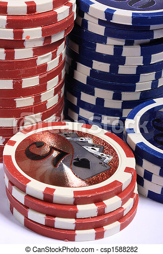 Casino gambling chips - csp1588282
