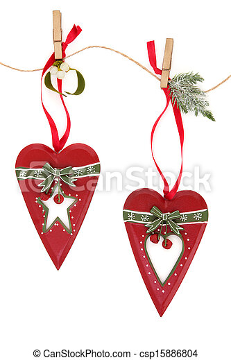 Retro Christmas Decorations - csp15886804