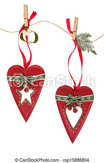 Retro Christmas Decorations - csp15886804