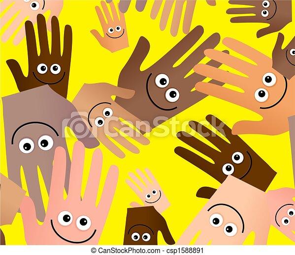 happy hands wallpaper - csp1588891