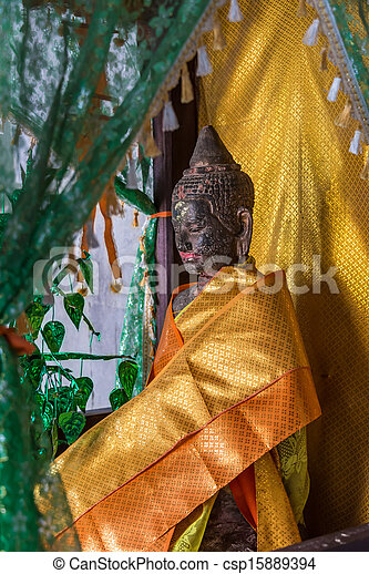 Buddha Statue Angkor Wat. Tradition, Religion, Culture. Cambodia, Asia. - csp15889394