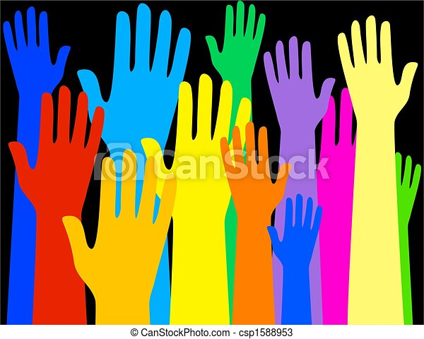 colourful hands - csp1588953