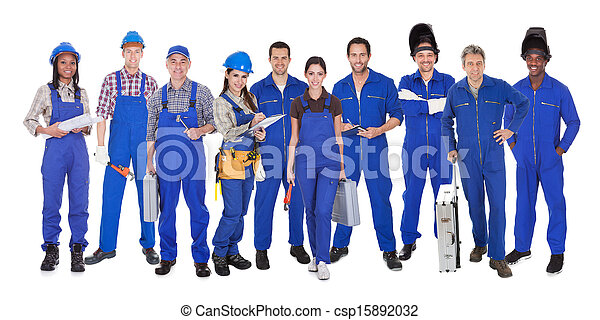 Group Of Industrial Workers - csp15892032