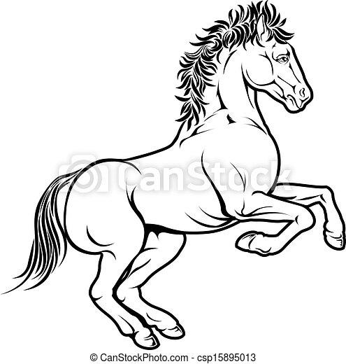 Clipart vettoriali di stilizzato cavallo illustrazione for Immagini cavalli stilizzati