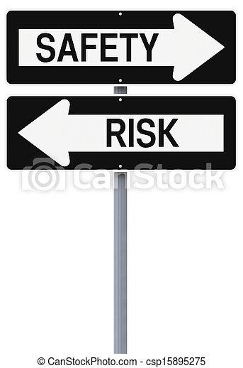segurança, ou, risco - csp15895275