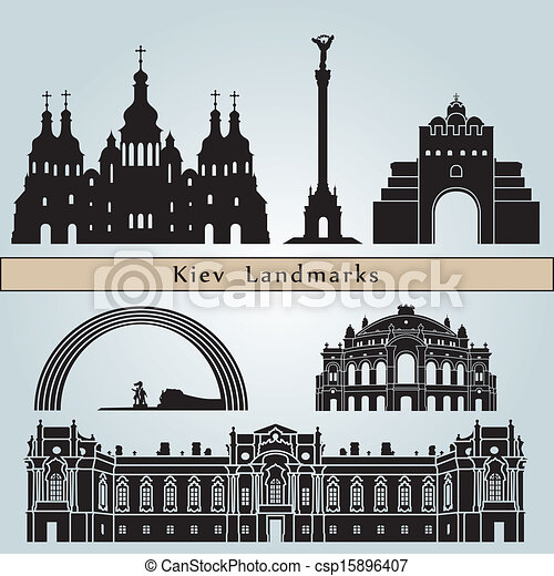 Kiev landmarks and monuments - csp15896407