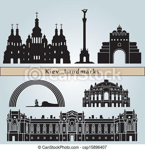 Kiev landmarks and monuments - csp15896407