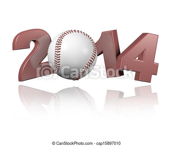 Baseball 2014 design - csp15897010