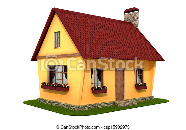 Stock Illustrations of Model village house. Isolated on ...