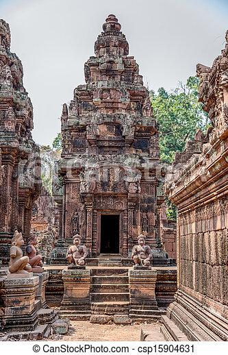 Ancient Angkor Ruins at Cambodia, Asia. Culture, Tradition, Religion. History. - csp15904631