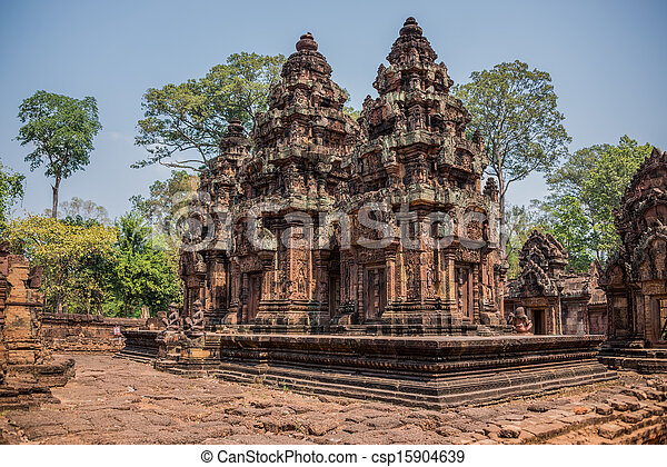 Ancient Angkor Ruins at Cambodia, Asia. Culture, Tradition, Religion. History. - csp15904639