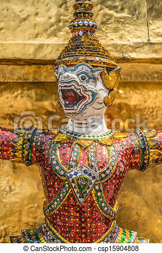 Sculpture at Royal Palce, Bangkok City, Religion, Culture and Tradition, South East Asia, Thailand. - csp15904808