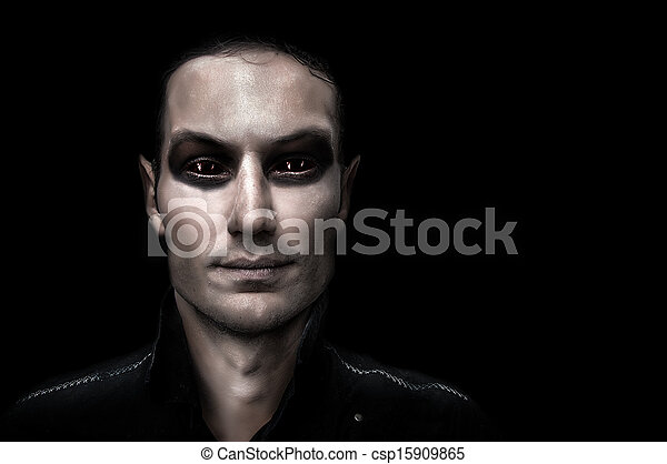 Fashion portrait of young adult vampire - csp15909865