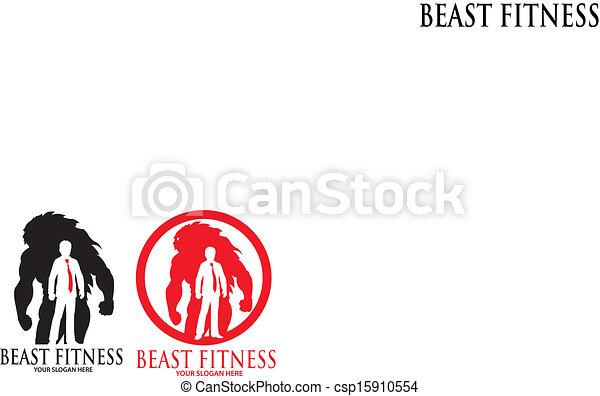 Beast Fitness Logo - csp15910554
