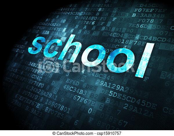Education concept: School on digital background - csp15910757