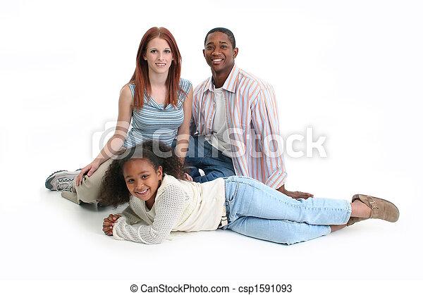Interracial Family - csp1591093