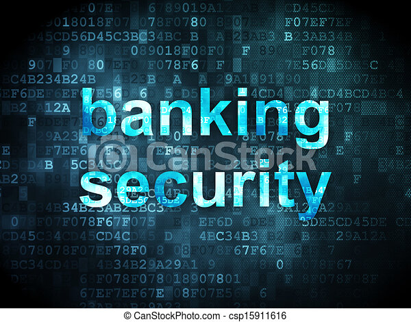 Security concept: Banking Security on digital background - csp15911616