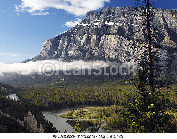 Rocky Mountins - Banff National Park - Canada - csp15913429