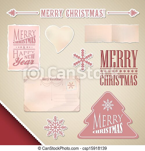 Scrapbooking set: Merry Christmas - csp15918139
