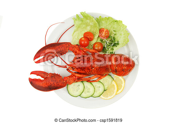 Lobster and garnish - csp1591819
