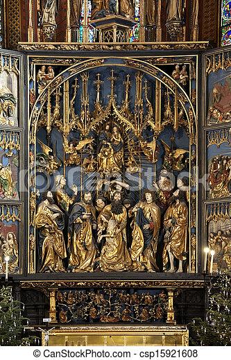 Church of St Mary - Krakow - Poland - csp15921608
