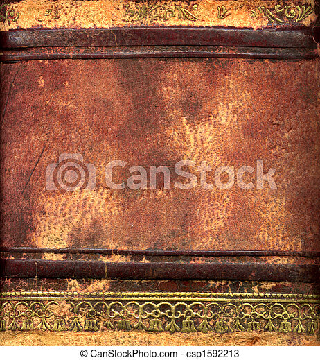 Leather bound book detail - csp1592213